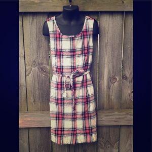 🍭EUC Girls Gap Plaid Dress 8 (M)